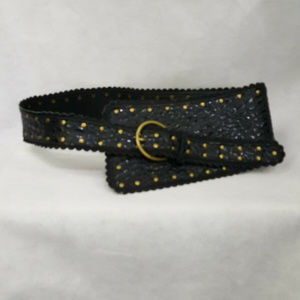 Chinese Laundry Wide Belt Embroidered Studded L